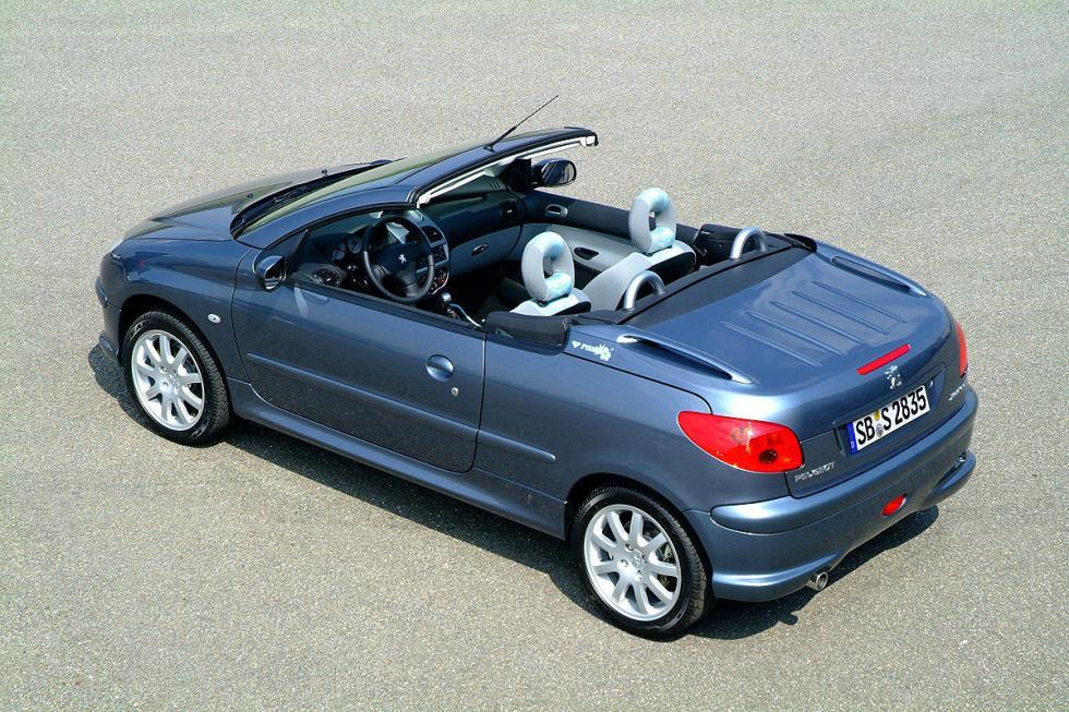 Peugeot 206 CC. Suele dar puntuación baja por problemas en los frenos, el alumbr