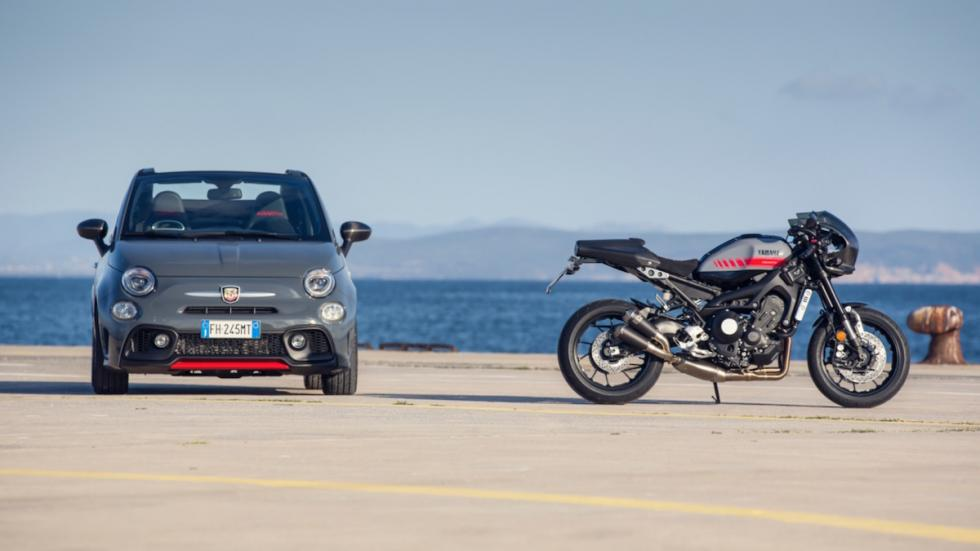 Prueba-Abarth-695-XSR-Yamaha-coche-moto-Yamaha-XSR-900