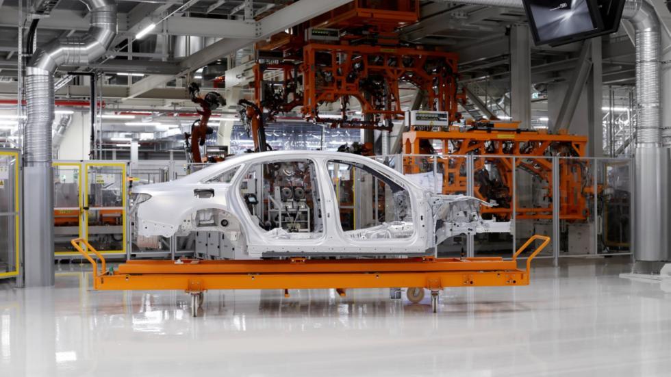planta del Audi A8