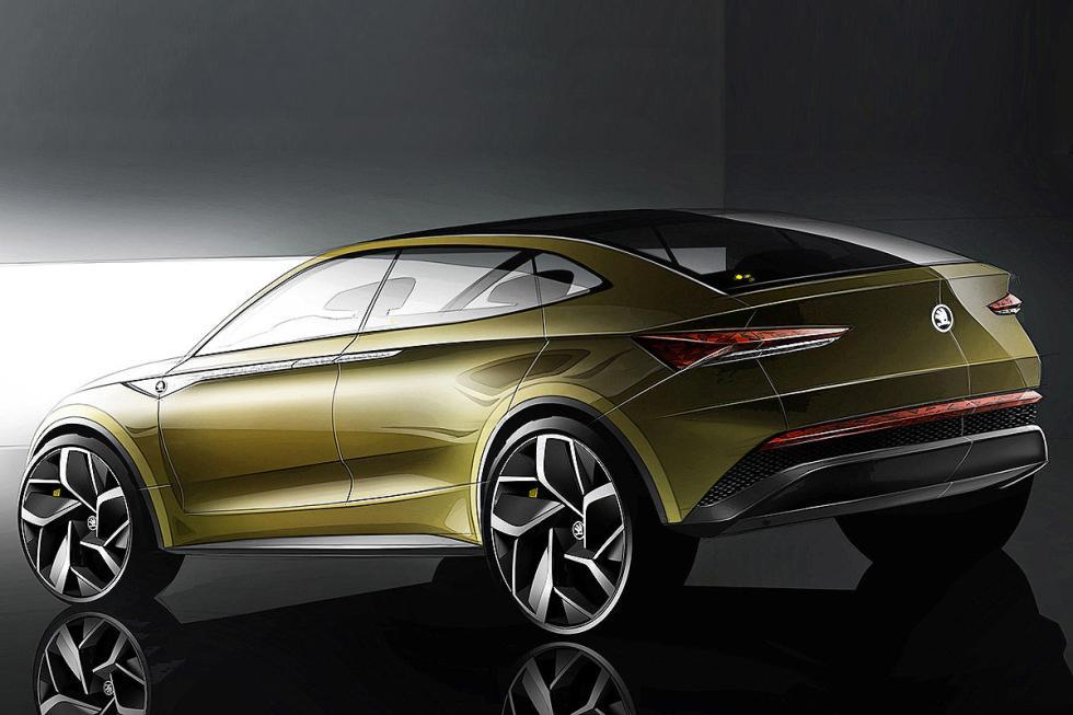 Tendrá líneas coupé, estará basado en el Kodiaq.