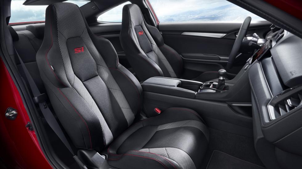 Honda Civic Si sedán 2017 plazas delanteras