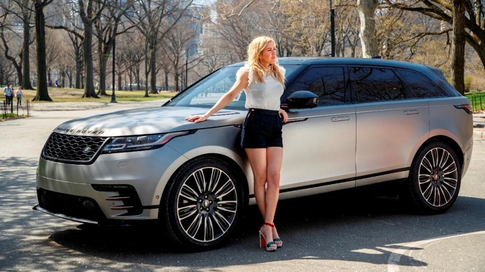 Ellie Goulding y el Range Rover Velar