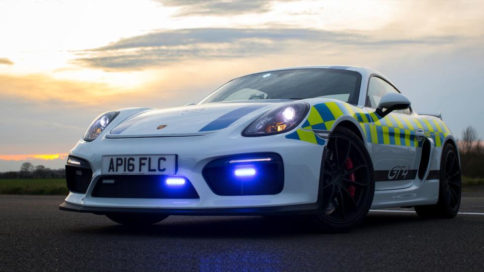 Porsche Cayman GT4 policía británica delantera