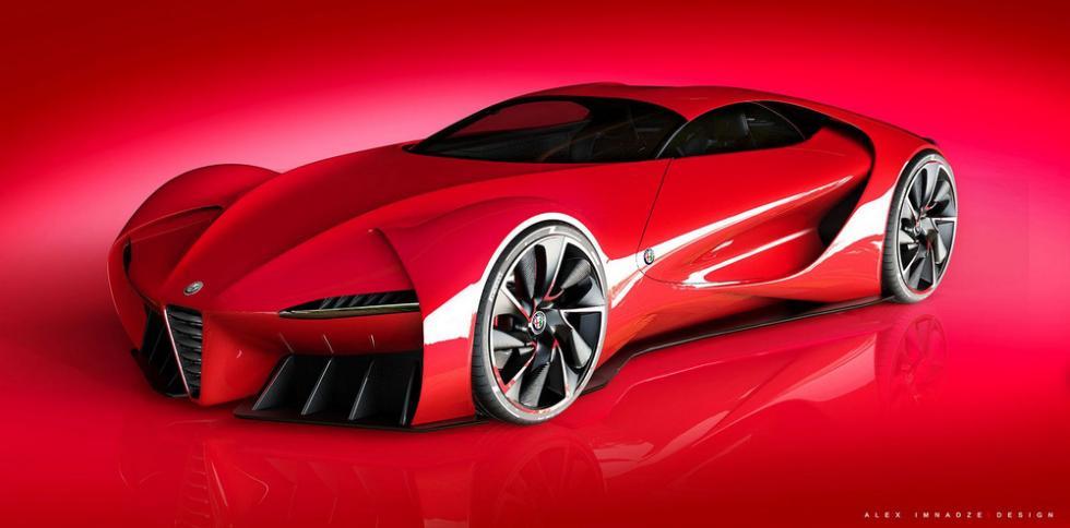 Alfa Romeo 6C Disco Volante delantera