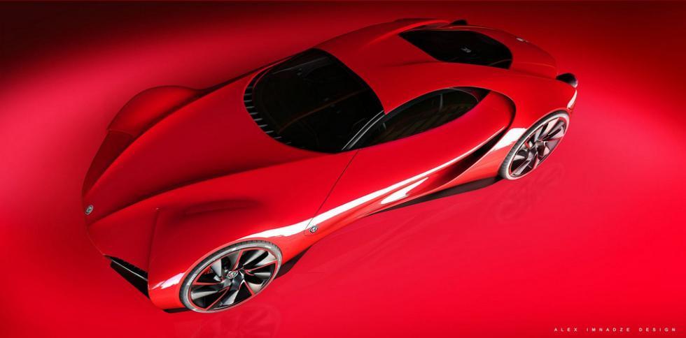Alfa Romeo 6C Disco Volante tres cuartos delantera superior