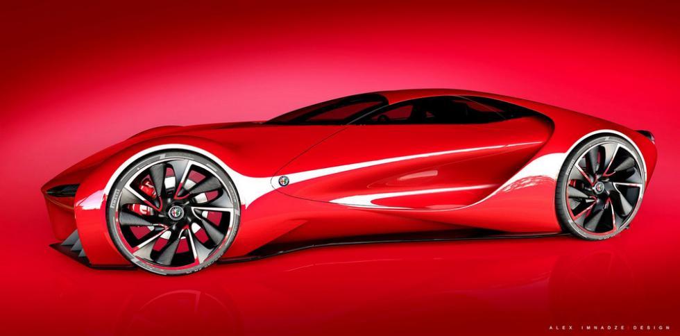 Alfa Romeo 6C Disco Volante perfil