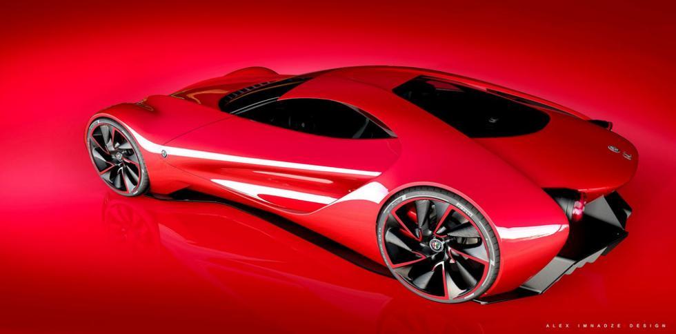 Alfa Romeo 6C Disco Volante tres cuartos trasera superior