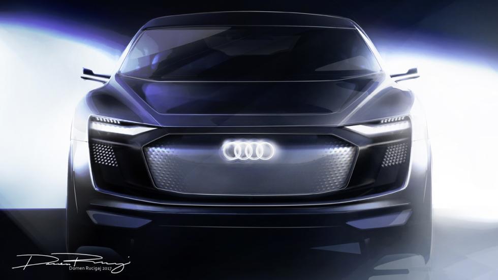 Audi e-tron Sportback Concept boceto frontal