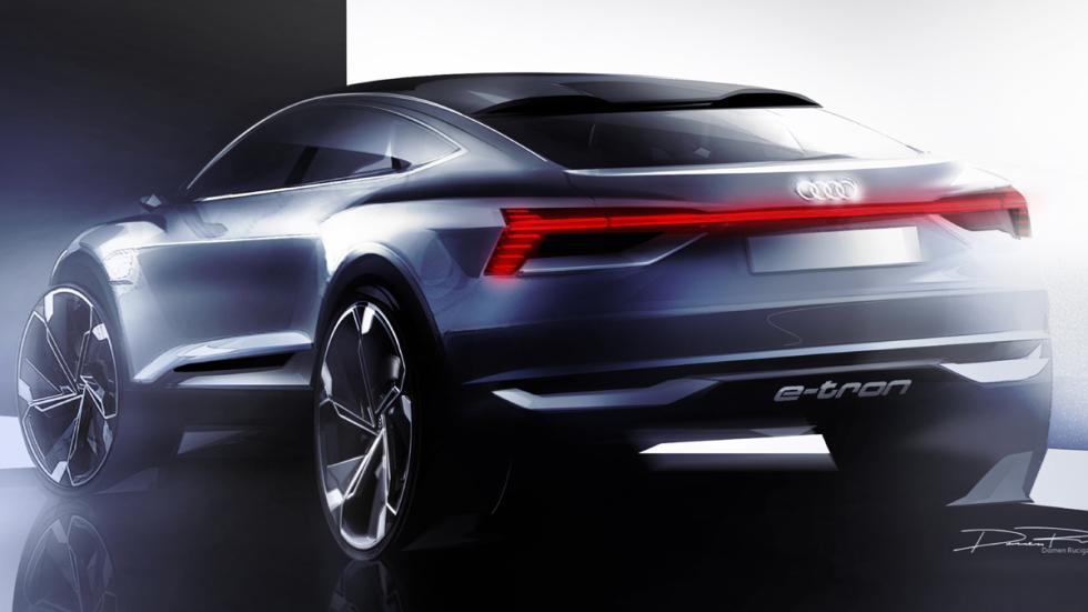 Audi e-tron Sportback Concept boceto zaga