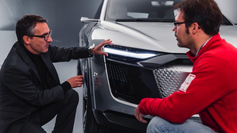 Audi e-tron Sportback concept luces