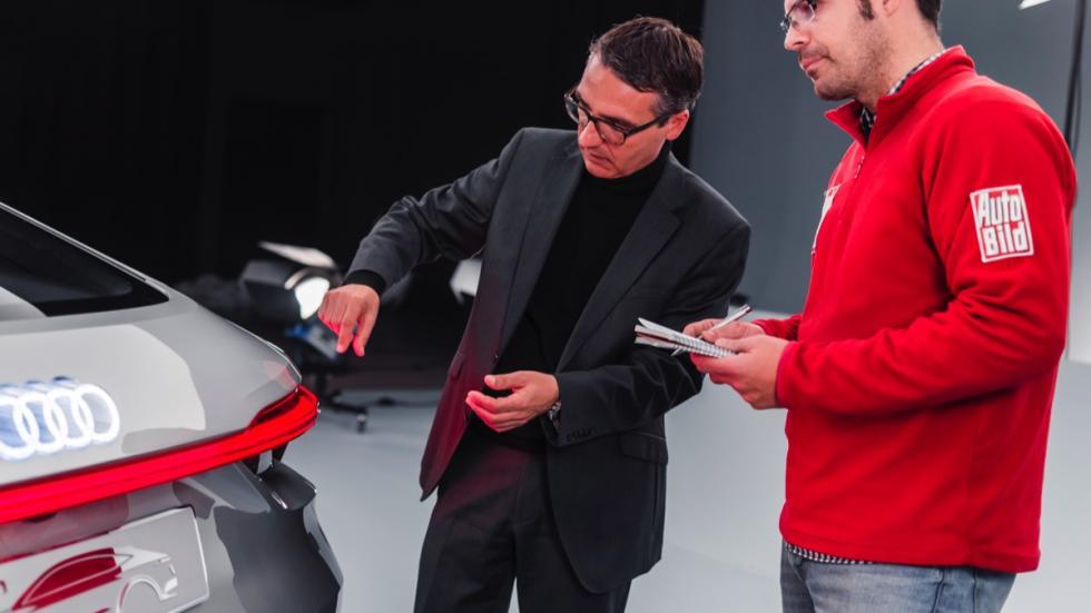 Audi e-tron Sportback concept led trasero