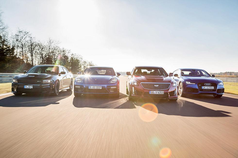 Porsche Panamera Turbo V8 vs rivales