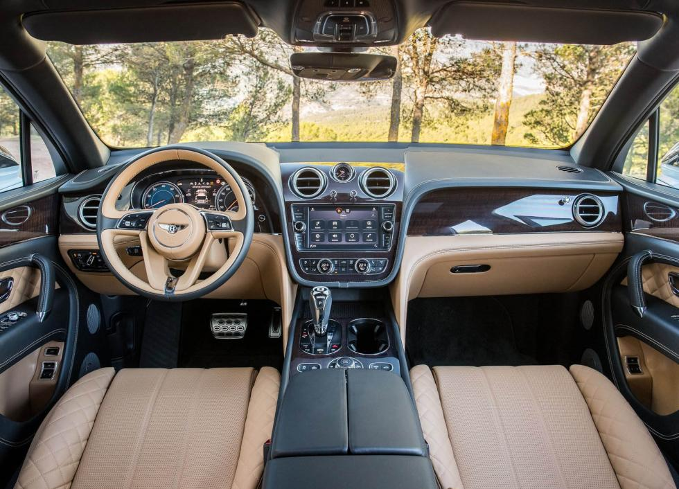 Interior del Bentley Bentayga