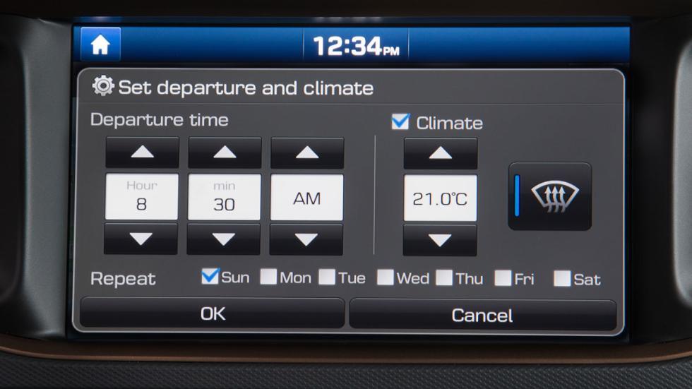 hyundai ioniq eléctrico 2017 pantalla temperatura interior deseada