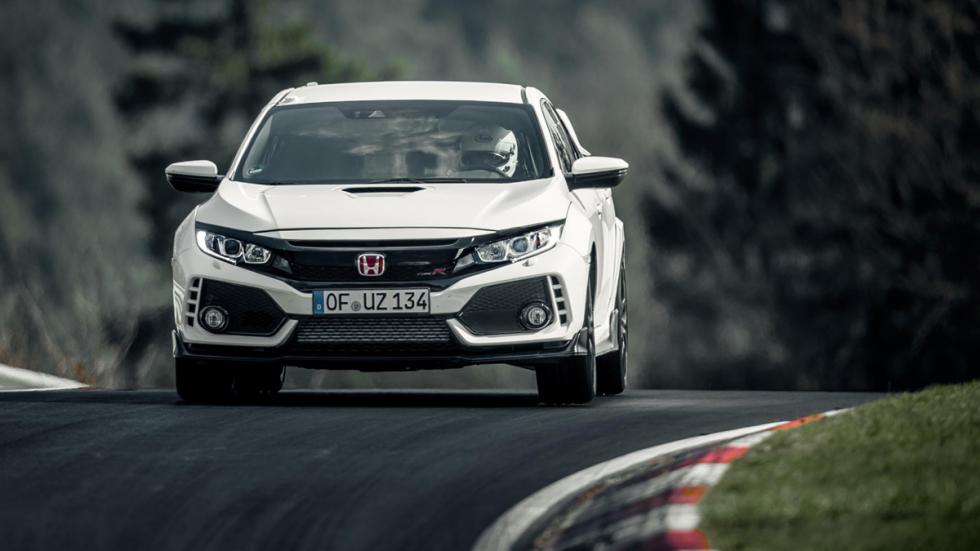 Honda Civic Type R récord Nürburgring frontal curva