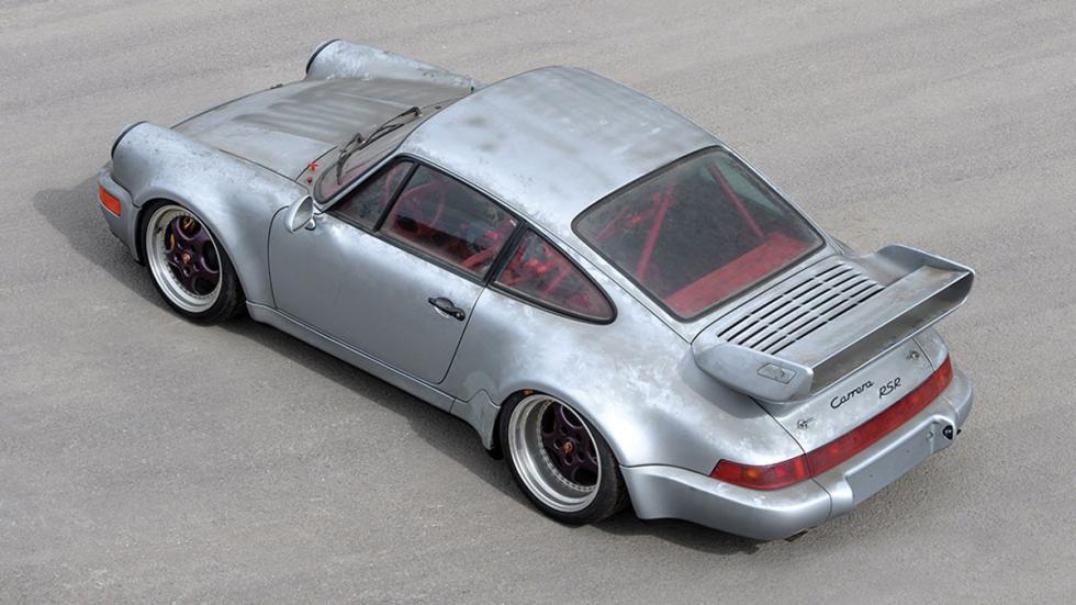 subasta Porsche 911 RSR 3.8 de 1993 sin usar trasera tres cuartos