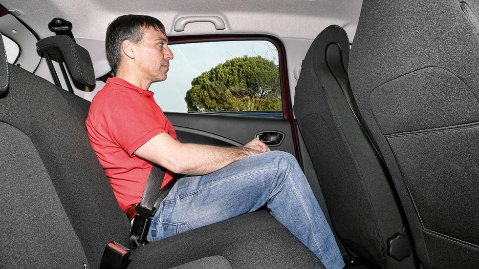 Renault Zoe plazas traseras