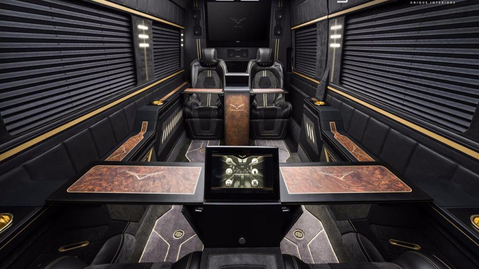 Mercedes Sprinter Jet Van by Carlex Design detalle habitáculo