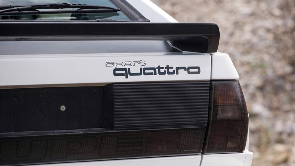 Audi Sport quattro 1985 detalle logo
