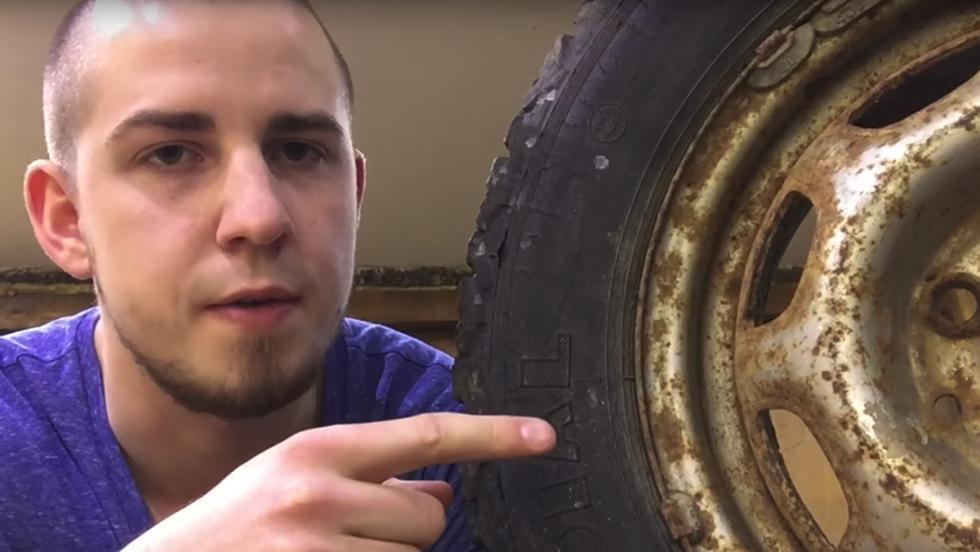 Así explota un neumático sometido a una sobrepresión brutal