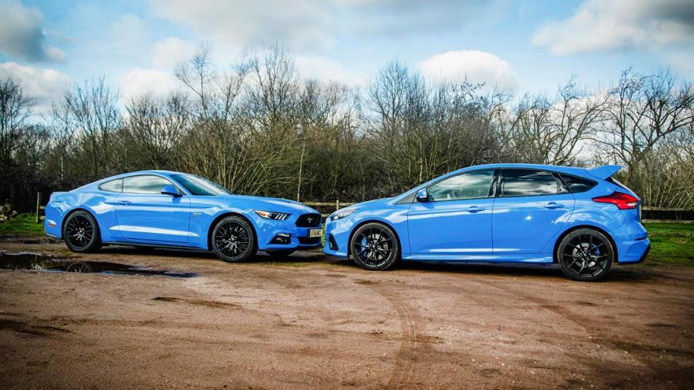 Ford Mustang GT o Ford Focus RS comparativa