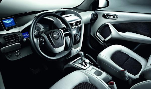 Aston Martin Cygnet white interior