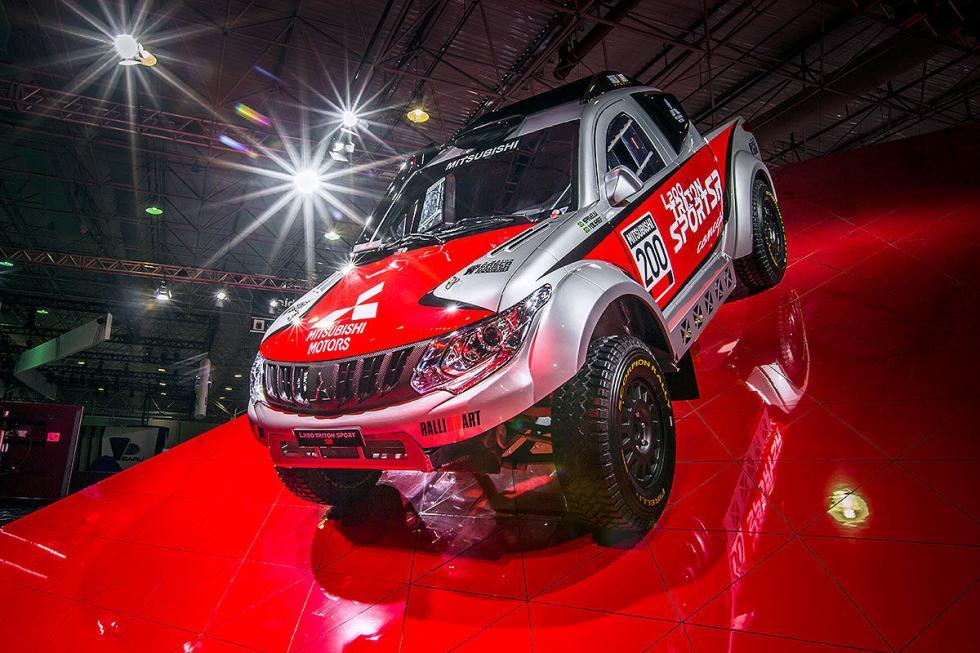 Mitsubishi tiene para Brasil pick-ups de competición: como este de aluminio, car