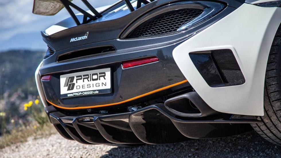 McLaren 570S Prior Design detalle paragolpes trasero