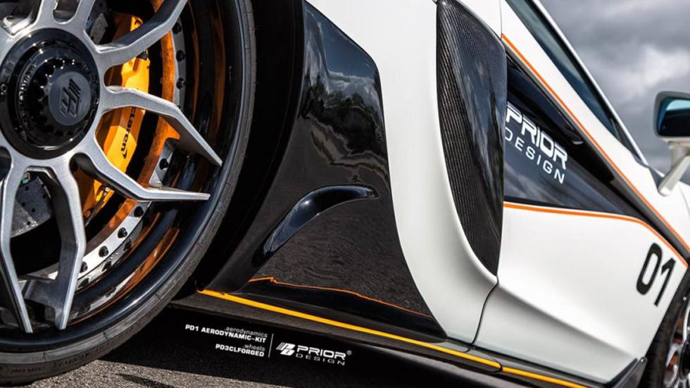 McLaren 570S Prior Design detalle taloneras