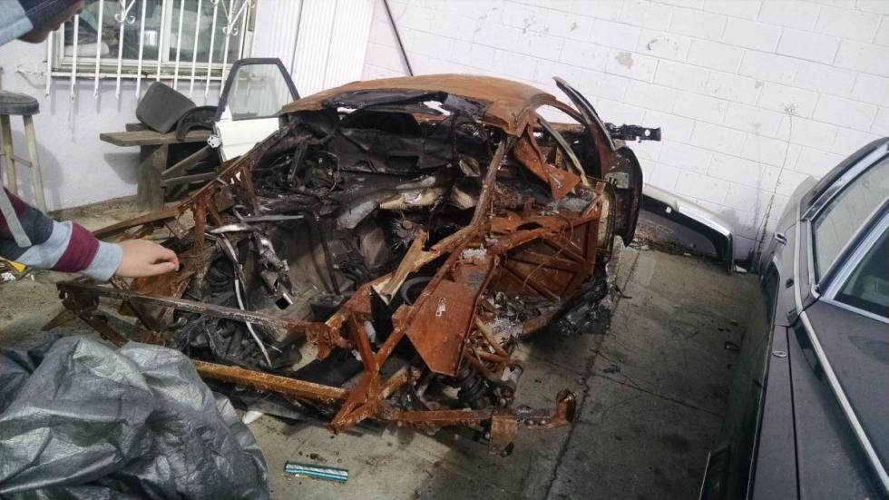 Venta Lamborghini Murciélago quemado