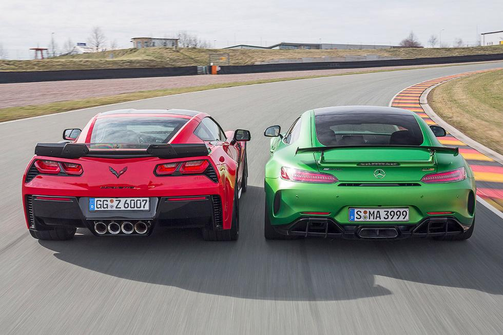 Chevrolet Corvette Z06 vs Mercedes-AMG GT R