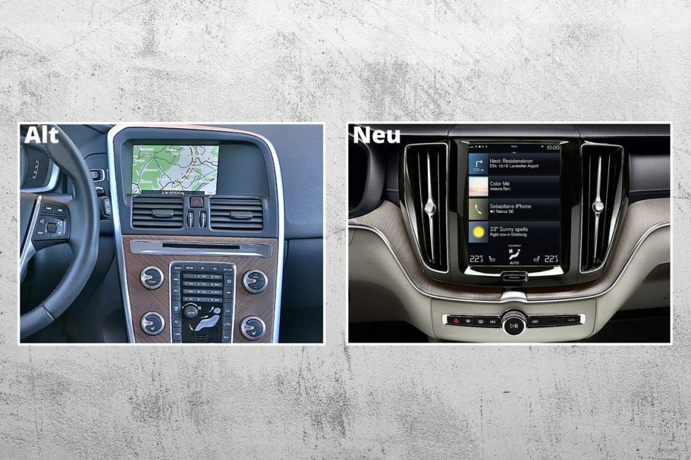 El 'infotainment' viene de los modelos 90. Hay menos botones, y una pantalla muc