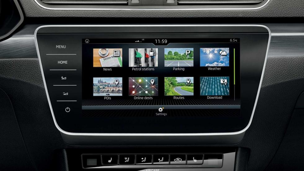 Skoda Superb 2017 multimedia