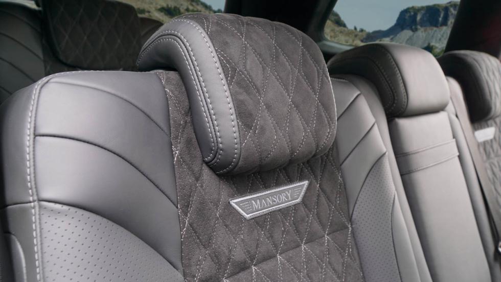 Detalle de la tapicería del Mercedes-Benz AMG GLS 63 Mansory