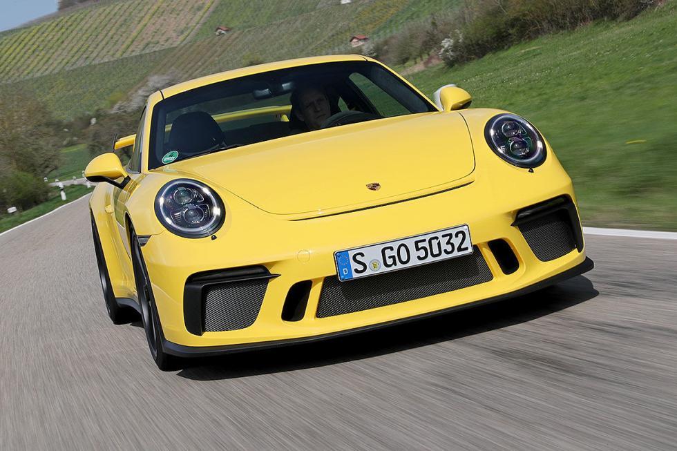 Porsche 911 GT3. Motor bóxer de 4 litros con 500 CV.