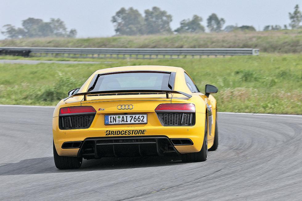 Audi R8 V10, con motor de 5,2 litros.
