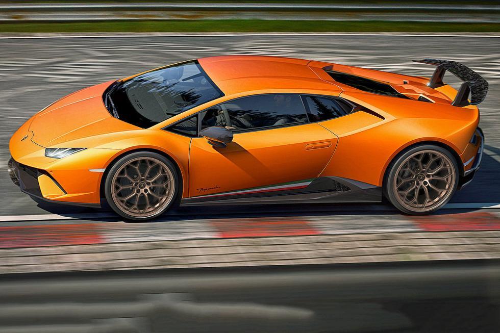 Lamborghini Huracán Performance: V10, 640 CV, sistema aerodinámico activo.