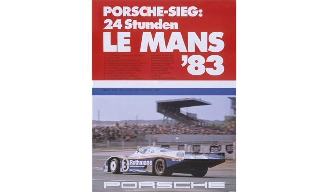 Cartel histórico de Porsche en Le Mans 1970