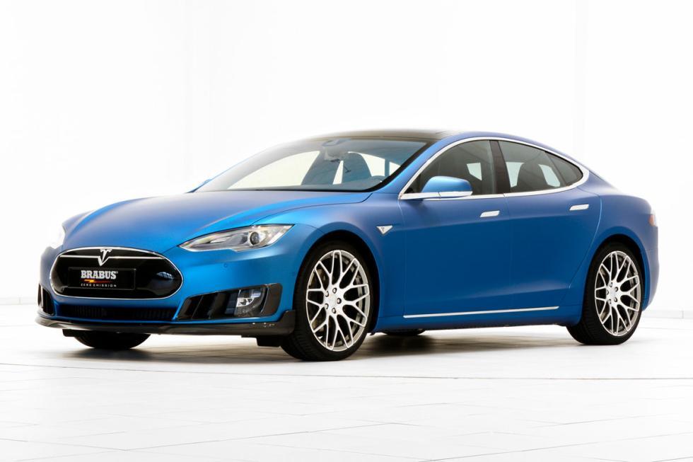 Brabus también se atreve con Tesla: difusor de carbono, llantas de 21...