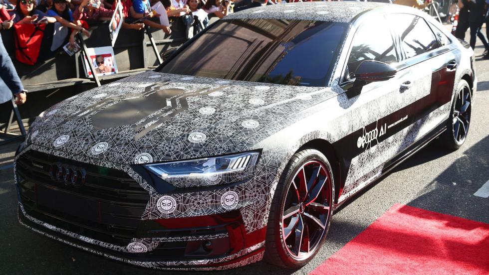 Audi A8 2018 camuflado, en el estreno de Spiderman (II)