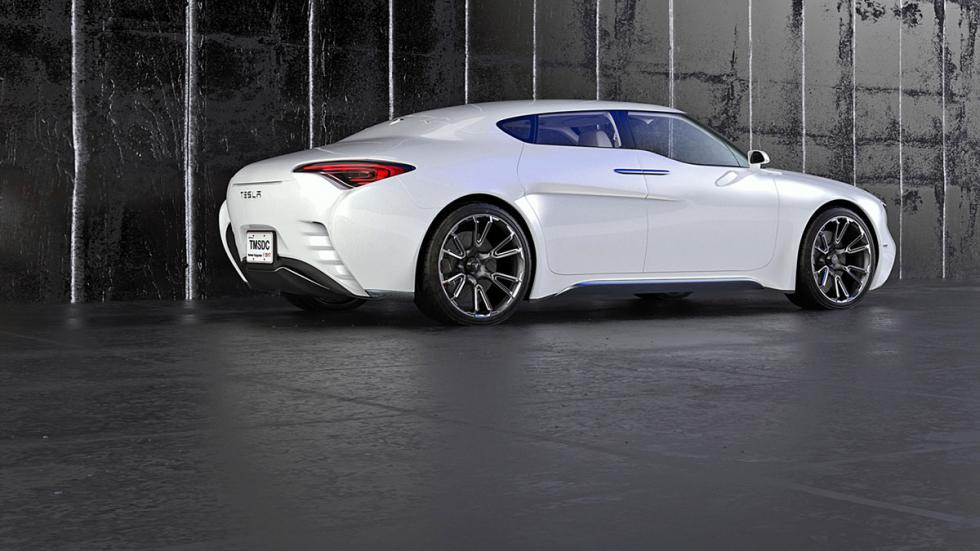 Tesla Model S render (lateral)