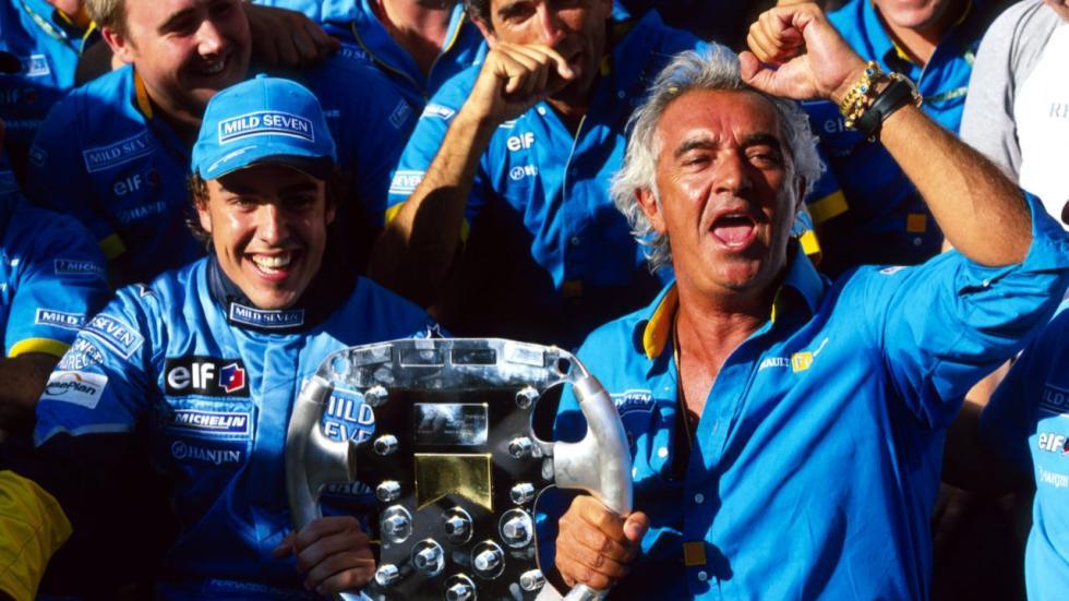 Alonso y Briatore celebran su triunfo en Hungría