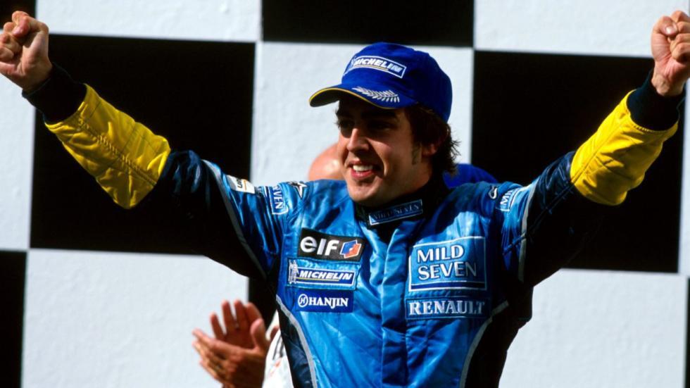 Alonso celebra su victoria en Hungría