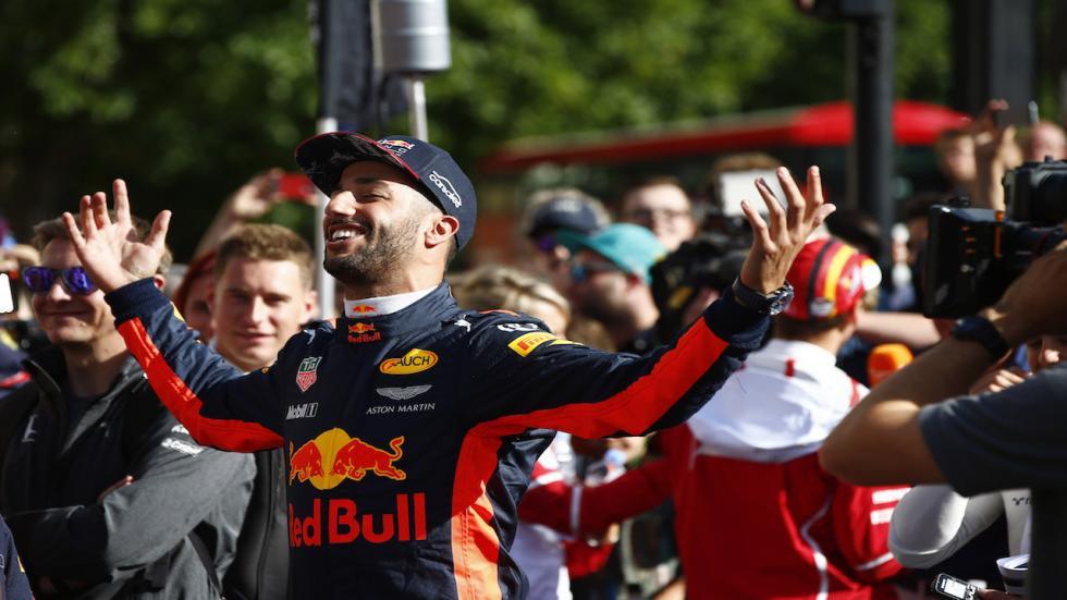 Daniel Ricciardo, como siempre el más popular