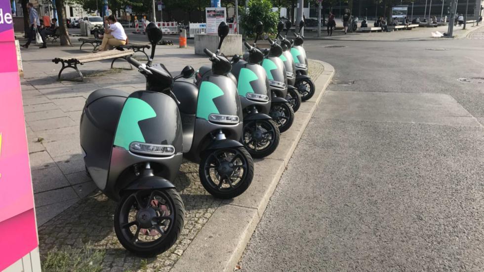 Estacionamiento colectivo de Gogoros en Berlín