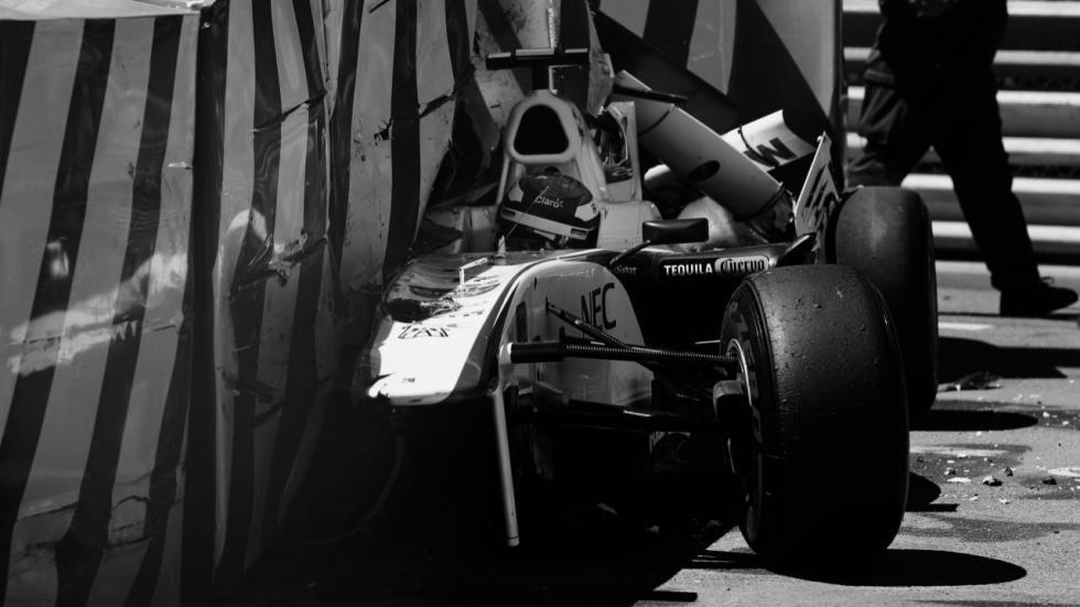 Fuerte accidente de Sergio Pérez en el GP de Mónaco de 2011