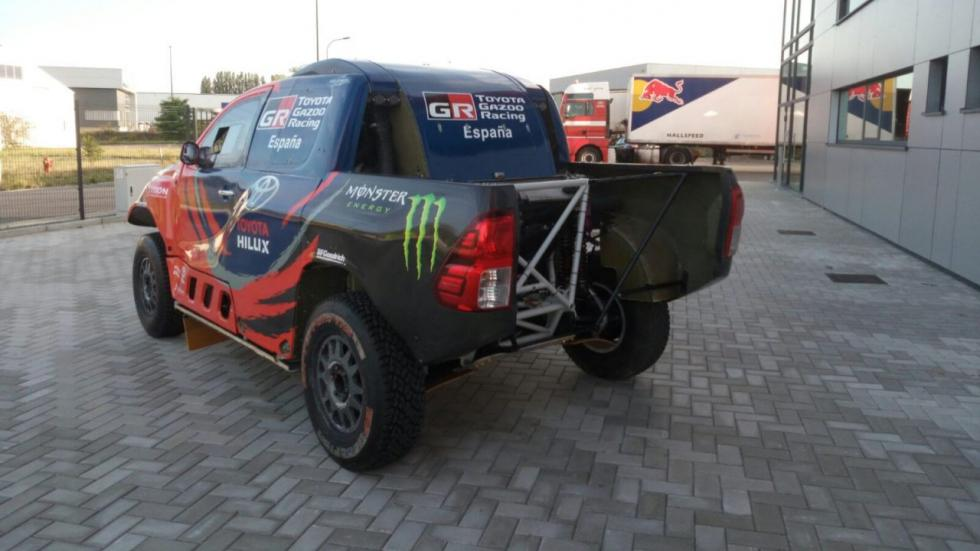 Nani Roma, con un Toyota Hilux a la Baja Aragón 2017