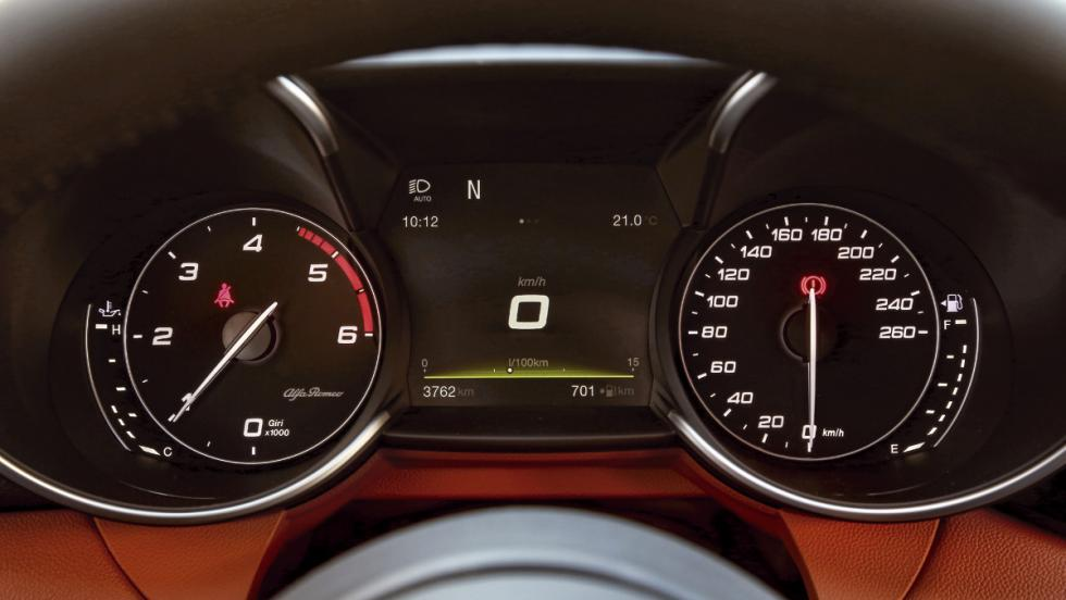Prueba Alfa Romeo Giulia (cuadro de instrumentos)