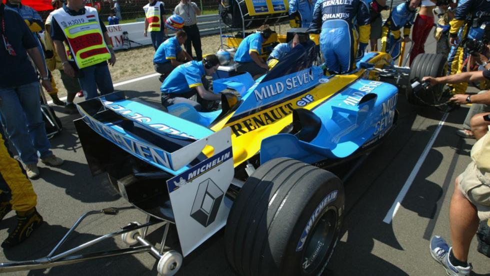 El Renault de Alonso, antes del GP de Hungría