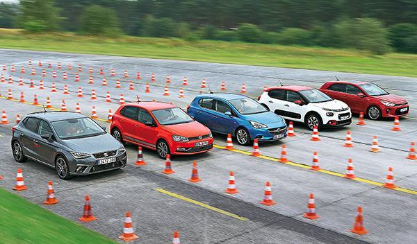 Seat Ibiza, VW Polo, Opel Corsa, Citroën C3 y Kia Rio